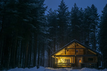 A Lonely House In A Pine Fores...