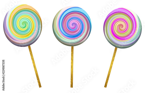 Fotografie, Obraz  Three Lolliepops