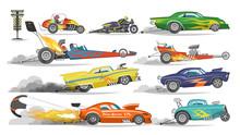Race Car Vector Drag Racing On...