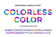 Colorful Font. Colorful Bright...