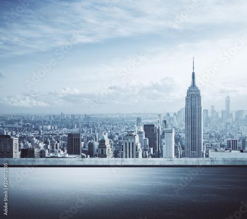 Spoed Foto op Canvas Stad gebouw Creative New York city background