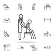 therapist icon. medicine icons universal set for web and mobile