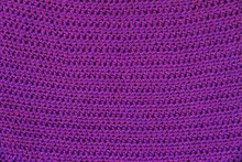 Texture Of Knitted Purple Horizontal Crocheted Canvas