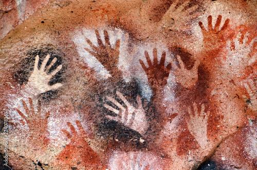 Foto  Arte rupestre - Cueva de las Manos - Argentina