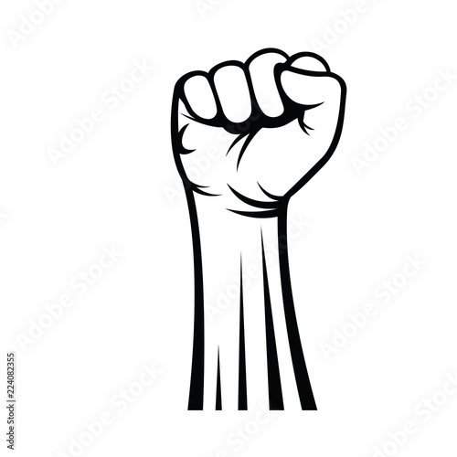 Fist male hand, proletarian protest symbol, Revolution and Freedom Canvas-taulu