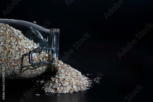 Fotografie, Obraz  Oats in a jar