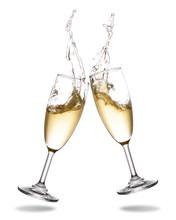 Cheers Champagne With Splashin...