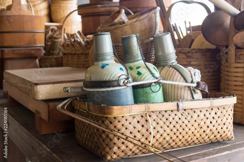 Fotografie, Obraz  日本のレトロな水筒