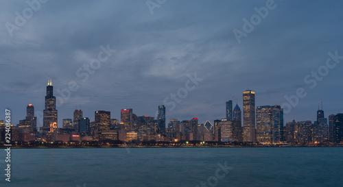 Foto op Aluminium Tokyo Chicago skyline