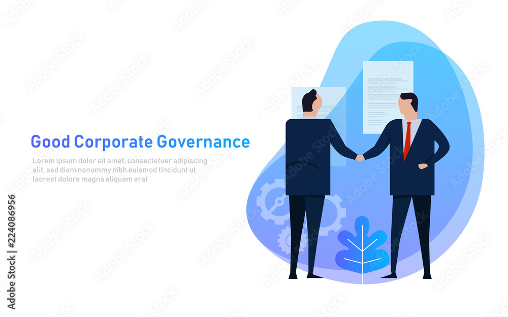 Fototapeta Good Corporate Governance. Business team agree on set of principle and cooperation.