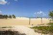 areia, céu, paisagem, mar