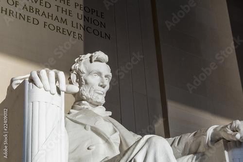 Poster Lieux connus d Amérique Abraham Lincoln Statue at Memorial monument Washington DC