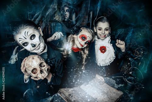 Spoed Fotobehang Halloween party in halloween