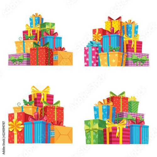 Fotografía Christmas presents in gift boxes