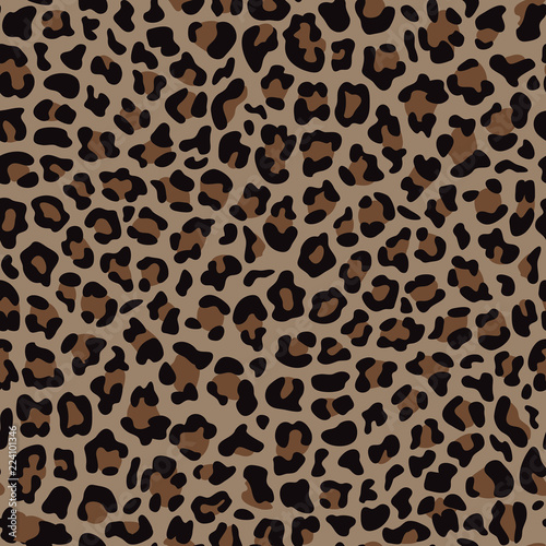 Fotografia  Beige and Brown Leopard Fashion Seamless Pattern