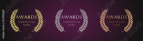 Awards logotype set Wallpaper Mural