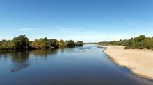 Loire River Bank In The Centre-Val De Loire Region