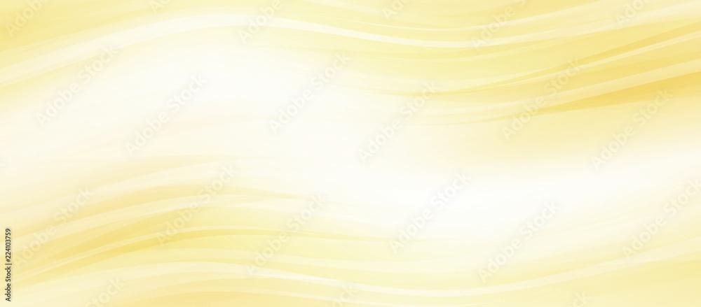 Fototapeta 光輝くウェーブ 金色と黄色の背景