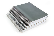Stack Of The Different Exercise Books With Wire Spiral Binding
