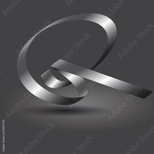 Fotografie, Obraz  Buchstabenband Q