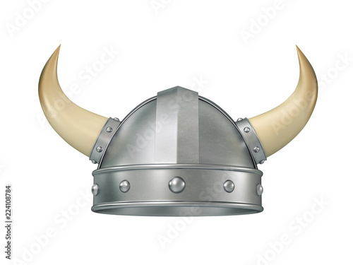 Photo Viking helmet with horns, clipping path included
