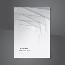 White Gray Abstract Gradient C...