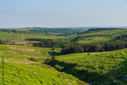 Fotografía  Peak District landscape near Upper Burbage, South Yorkshire, England, UK