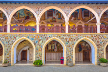 Arcade With Golden Mosaics In ...