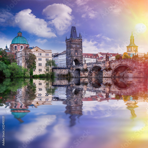 Fototapeta  Prague is the capital of the Czech Republic, the European state