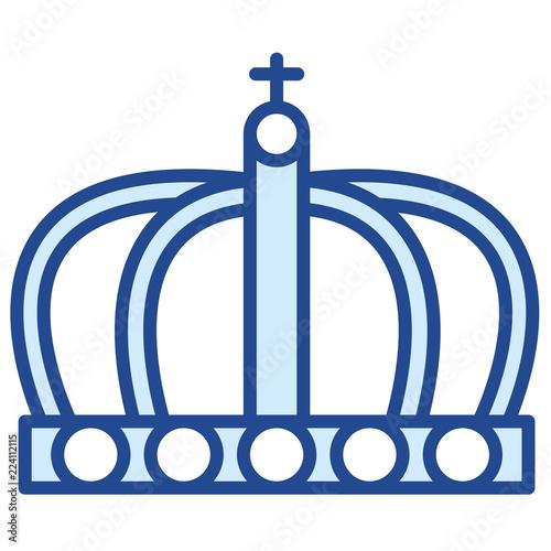 Fotografie, Obraz  Krone der englischen Königin Vector Icon Illustration