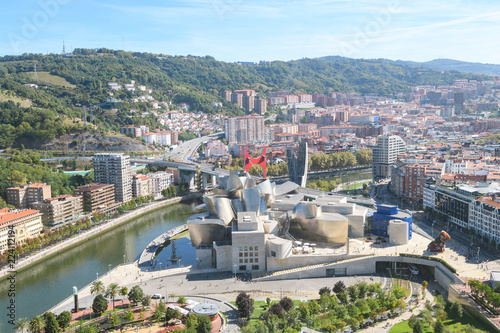 Bilbao skyline from a lookout tower, Spain
