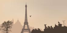 Vue De Paris Avec La Tour Eiff...