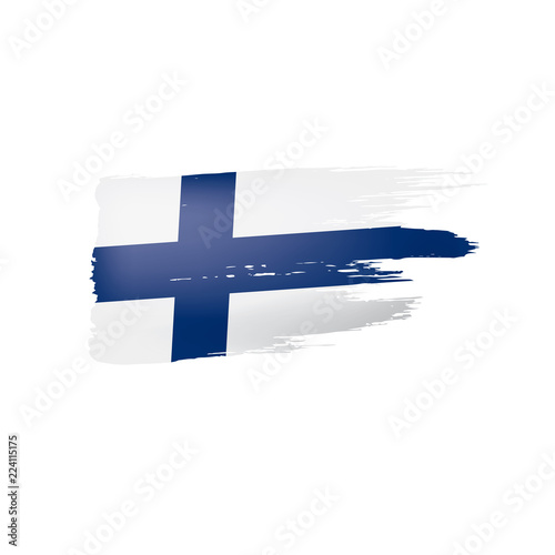 Papel de parede Finland flag, vector illustration on a white background.