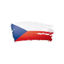 Czechia Flag, Vector Illustrat...