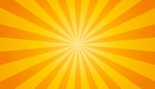 Orange And Yellow Sunburst Bac...