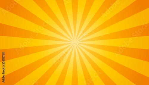 Fotografia  Orange And Yellow Sunburst Background - Vector Illustration