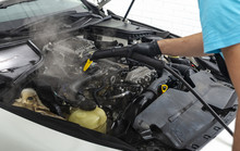 Car Detailing Maintaince, Cleaning Engine With Hot Steam, High Pressure Washing