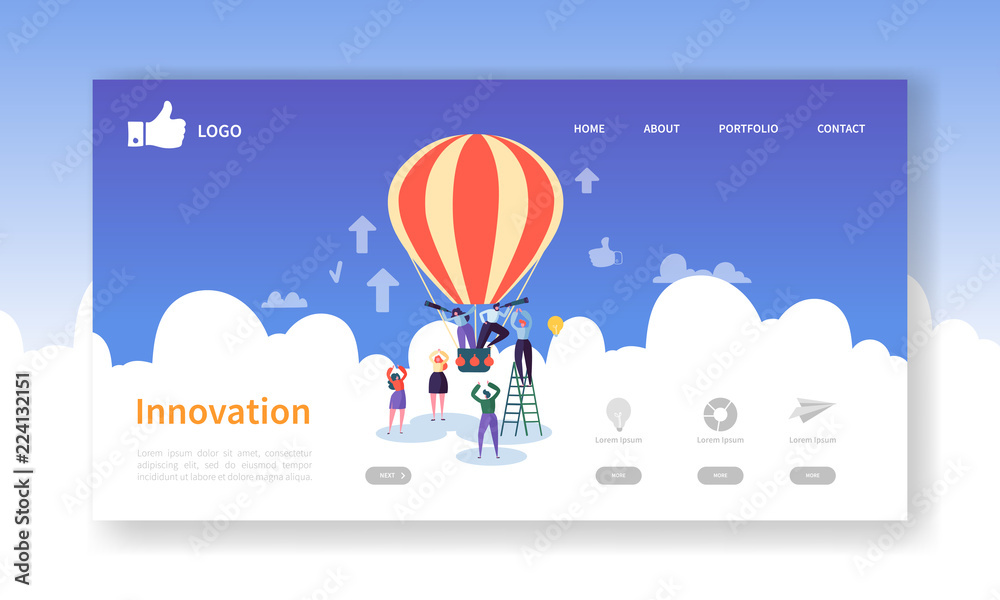 Photo  Business Innovation Landing Page Template