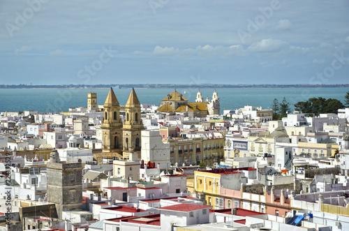 Panorámica aérea de Cádiz. España.