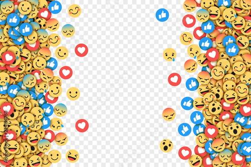 Vector Flat Design Modern Emoji Conceptual Abstract Art
