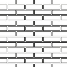 Line Art Black And White Brick Wall