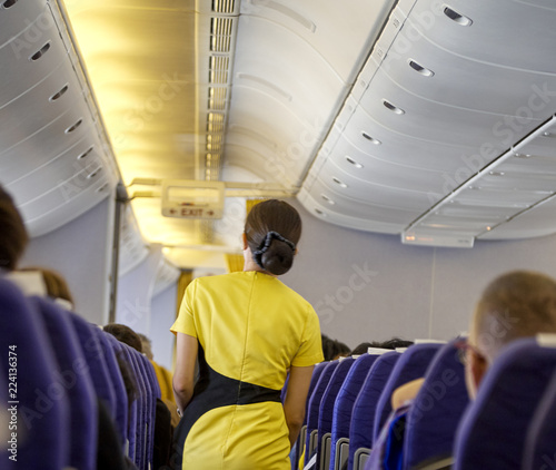 flying attendants ,air hostess Canvas Print