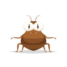 Cartoon Flea Vector Isolated