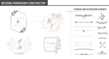 Wedding Monogram Constructor, ...