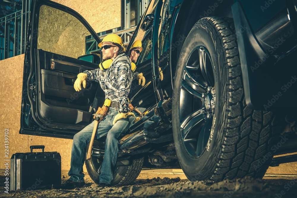 Fototapety, obrazy: Construction Industry Worker