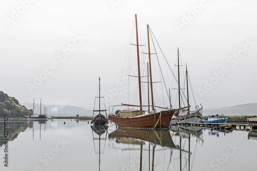 Keuken foto achterwand Schip Fischerboote bei Seca in Slowenien
