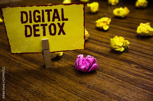 Writing note showing Digital Detox Canvas Print