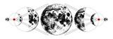 Magic moons tattoo - 224149126