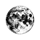 Hand drawn moon - 224149903