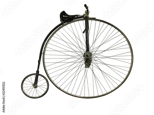 In de dag Fiets Vintage old retro bicycle isolated on white background